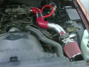 Short Ram Air Intake Kit Red Filter For 96 02 Grand Marquis Town Car 4 6 V8