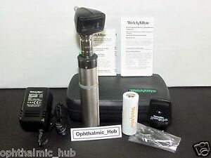Welch Allyn 3 5v Otoscope Ophthalmoscope With Ni cad In Case 97220 c Free Ship