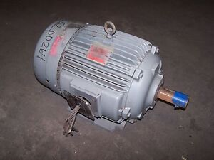 Ge 7 1 2 Hp Electric Ac Motor 230 460 Vac 1170 Rpm 254t Frame 3 Phase