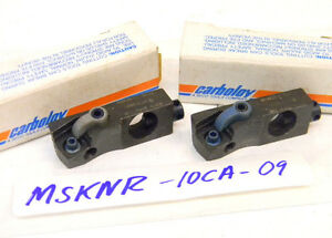 2 New Carboloy Insert Cartridges Msknr 10ca 09 snmg 322