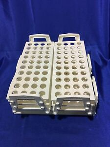 4 Each Nalgene Polypropylene Test Tube Racks With Handles 24 Hole 15mm