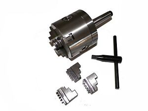 3 3 Jaw Precision Lathe Chuck With Mt2 Shank non rotating