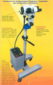Colposcope Portable 3 Step Magnification Light Source Beam Spliter Cm 3000