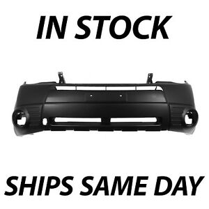 New Primered Front Bumper Cover Replacement For 2009 2013 Subaru Forester W Fog