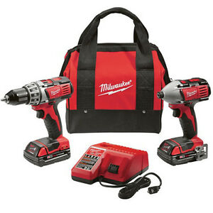 Milwaukee M18 18V Li-Ion 2-Tool Combo Kit with Case 2691-82