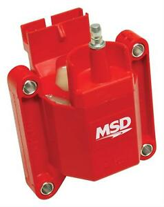 Msd Coil Blaster Performance Replacement E Core Square Epoxy Red 44000v Ford Tfi