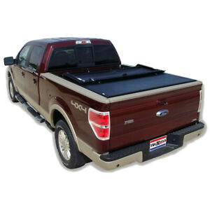 Truxedo 798301 Deuce Hinged Roll Up Tonneau Cover 2015 2018 Ford F 150 6 5 Bed