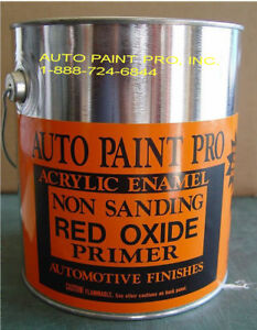 Red Oxide Non Sanding Enamel Primer Auto Body Restoration Car Paint Lead Free