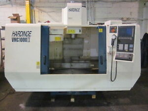 Hardinge Vertical Machining Center Vmc 1000 ii Siemens 810 Controller
