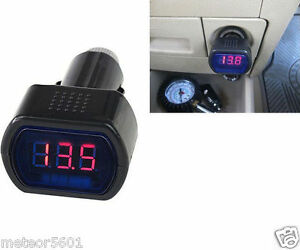 12v 24v Digital Led Display Volt Meter Auto Car Cigarette Lighter Voltage Gauge