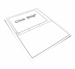 200 Click Ship Labels With Tear off Receipt Usa Made Peel Pull Apply