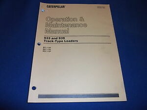 Cat Caterpillar 933 939 Track Loader Operation Maintenance Manual 8fl 9el 9gl