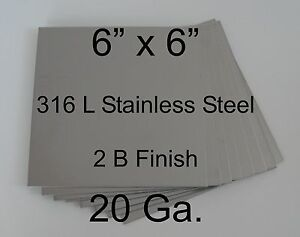 12 Pcs 316l 20 Ga 6 X 6 Stainless Steel Plate For Hho Cell