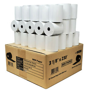 3 1 8 X 230 50 Rolls Thermal Paper guaranteed 230 ft Same Day Free Shipping