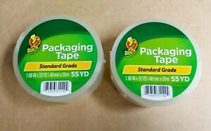 2 Rolls Clear Duck Packaging Tape 1 88 x 55 Yds Each Packing Tape Shippingtape