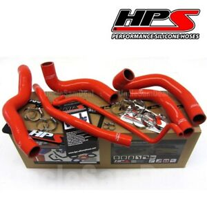 Hps Performance Reinforced Silicone Radiator Hose Kit 05 06 Ford Mustang V8 Red