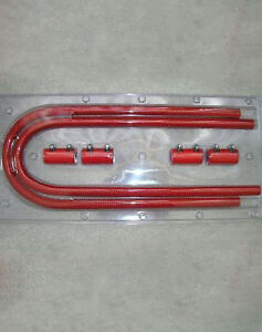 Red 44 Street Rod Flexible Ss Heater Hose Gm Ford Chevy Mopar Street Rod Hoses