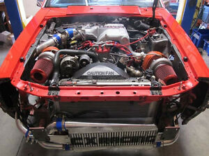 Cxracing Twin Turbo Intercooler Kit For 79 93 Ford Fox Body Mustang 5 0 Na t
