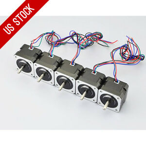 Us Ship 5pcs Osm Nema 17 Stepper Motor 12v 0 4a 37oz in 26ncm 4 lead 3d Printer