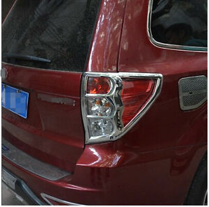 Chrome Rear Tail Light Lamp Cover Trim For Subaru Forester 2009 2010 2011 2012