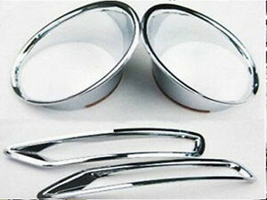 Chrome Front Rear Fog Light Cover Trim For Subaru Forester 2009 2010 2011 2012