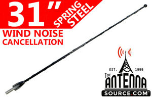 31 Black Spring Stainless Am fm Antenna Mast Fits 1992 2008 Ford F150