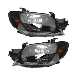 Mitsubishi Outlander 2003 2005 Front Head Lamps Lights Left Right One Set Europe