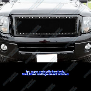 Fits 2007 2013 Ford Expedition Stainless Steel Black Rivet Studs Grille Inserts