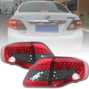 Fit 2008 2010 Toyota Coralla Altis Led Rear Tail Light Lamps Red Black Color