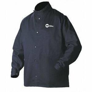 Miller Electric 244756 Arcarmor Welding Jacket navy cotton nylon 4xl