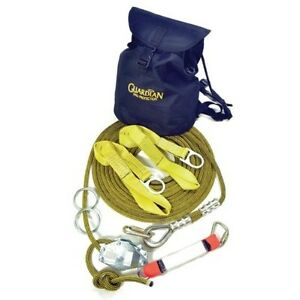 04639 Guardian Fall Protection 60 Kermantle Horizontal Lifeline System With
