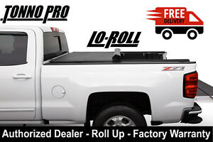 14 18 Silverado Sierra 5 8 Ft Bed Tonno Pro Soft Lo Roll Tonneau Cover Lr 1050