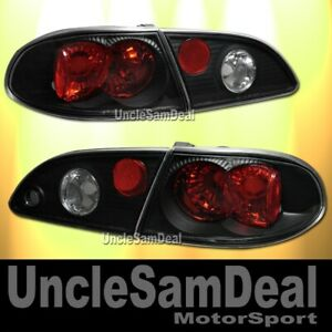 For 98 02 Toyota Corolla Clear Black Altezza Tail Trunk Lights 4 Pieces Set