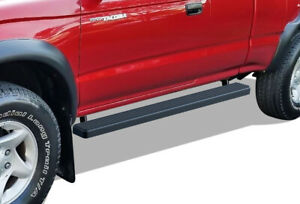 Iboard Running Boards 4 Matte Black Fit 95 04 Toyota Tacoma Xtra Cab