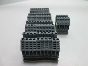 Lot 45 Dinnectors 43400 Terminal Block 10awg 30a 600vac Gray