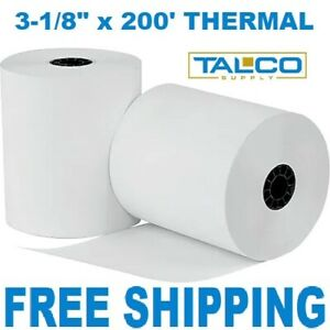 50 Clover Station 3 1 8 X 200 Thermal Receipt Paper Rolls free Shipping