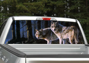 Wolf Scene Wolves Rear Window Decal Graphic Truck Suv