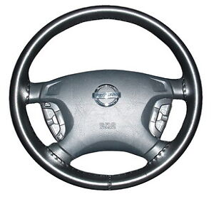 Black Genuine Leather Steering Wheel Cover For Nissan Wheelskins Size Axx