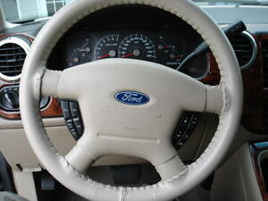 Sand Leather Steering Wheel Cover Ford Wheelskins Cowhide Leather 15 3 4 X 3 7 8