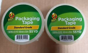 2 Rolls Clear tan Duck Packaging Tape 1 88 x 50 Yds Packing Tape Shipping Tape