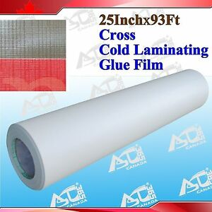 Cross Pattern 0 69x31yard Paper Adhesive Glue Film Cold Laminating Laminator