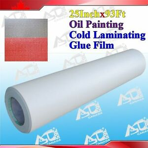 Laminating Film Oil Painting Pattern 0 69x31yard 3mil Paper Adhesive Glue Cold