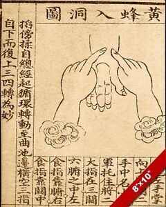 TRADITIONAL CHINESE MEDICINE HAND PRESSURE POINTS PAINTING ART REAL CANVAS PRINT