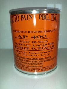 Acrylic Lacquer High Build Primer Surfacer Gray Auto Bodyshop Restoration Paint