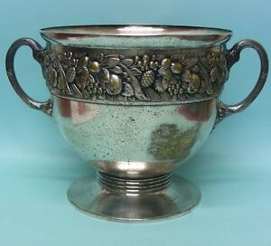 Art Nouveau Continental Silver Plated Ice Bucket Wine Cooler Punch Bowl Ca 1900