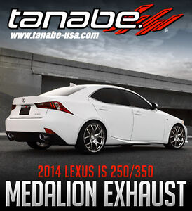 Tanabe Medalion Touring Exhaust 2014 2015 Lexus Is 250 350 F Sport