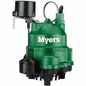 Myers Mdc50v1 1 2 Hp Cast Iron Sump Pump W Vertical Float Switch