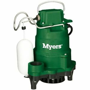 Myers Mci050 1 2 Hp Cast Iron Sump Pump W Vertical Float Switch