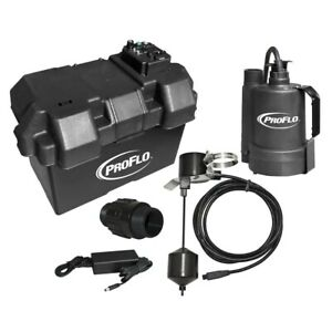Proflo Pf92910 Battery Back Up Sump Pump System 1080 Gph 10