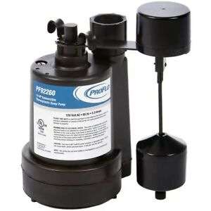Proflo Pf92260 1 4 Hp Thermoplastic Submersible Sump Pump